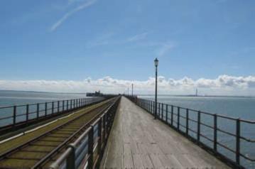 Southend pier UK